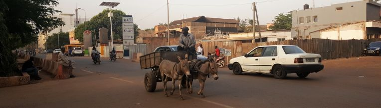 All kinds of vehicles can be seen on the streets of Bamako.